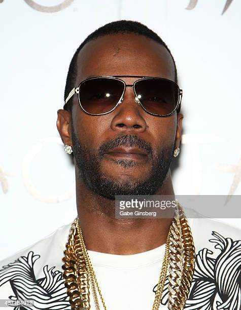 Rapper Juicy J arrives at Tao Nightclub at The Venetian Las Vegas to host a Labor Day weekend party on September 7 2015 in Las Vegas Nevada