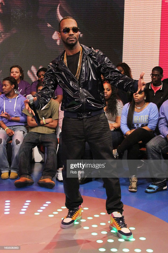 Rapper <a gi-track='captionPersonalityLinkClicked' href=/galleries/search?phrase=Juicy+J&family=editorial&specificpeople=698028 ng-click='$event.stopPropagation()'>Juicy J</a>. visits BET's '106 & Park' at BET Studios on March 7, 2013 in New York City.