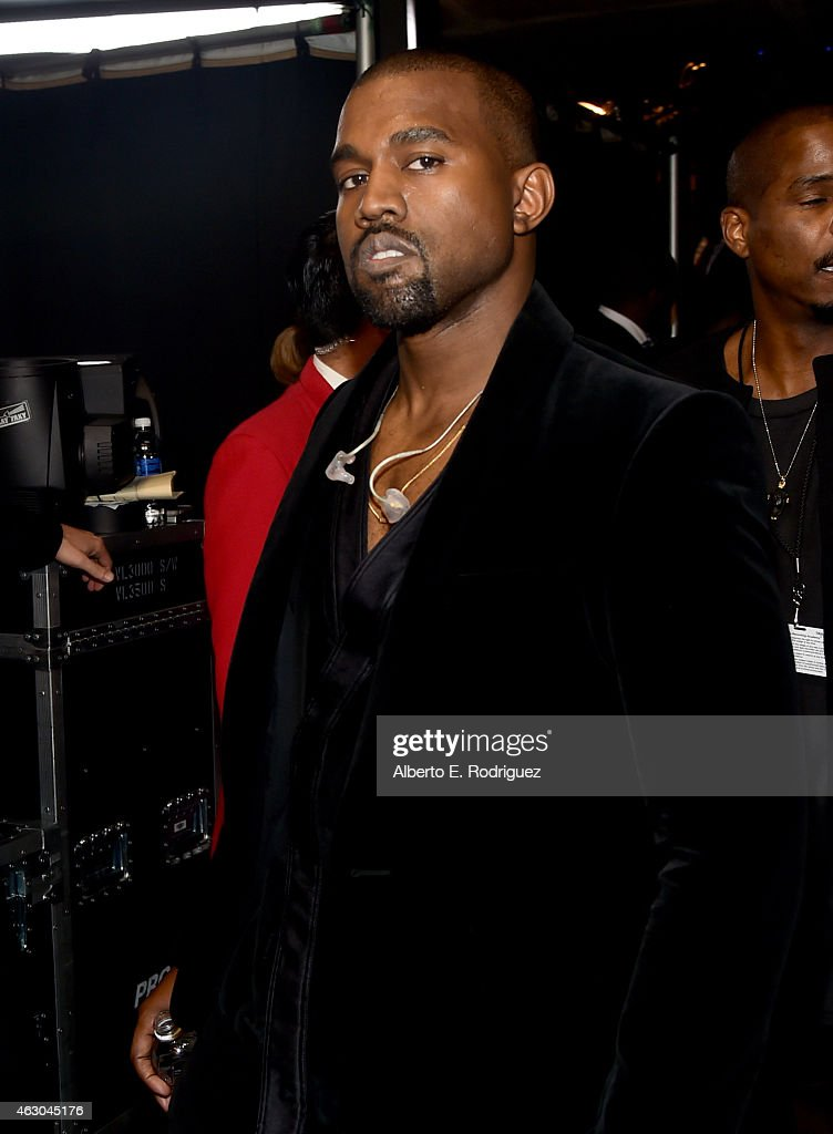 Rapper Kanye West attends The 57th Annual GRAMMY Awards at STAPLES Center on February 8, 2015 in Los Angeles, California.