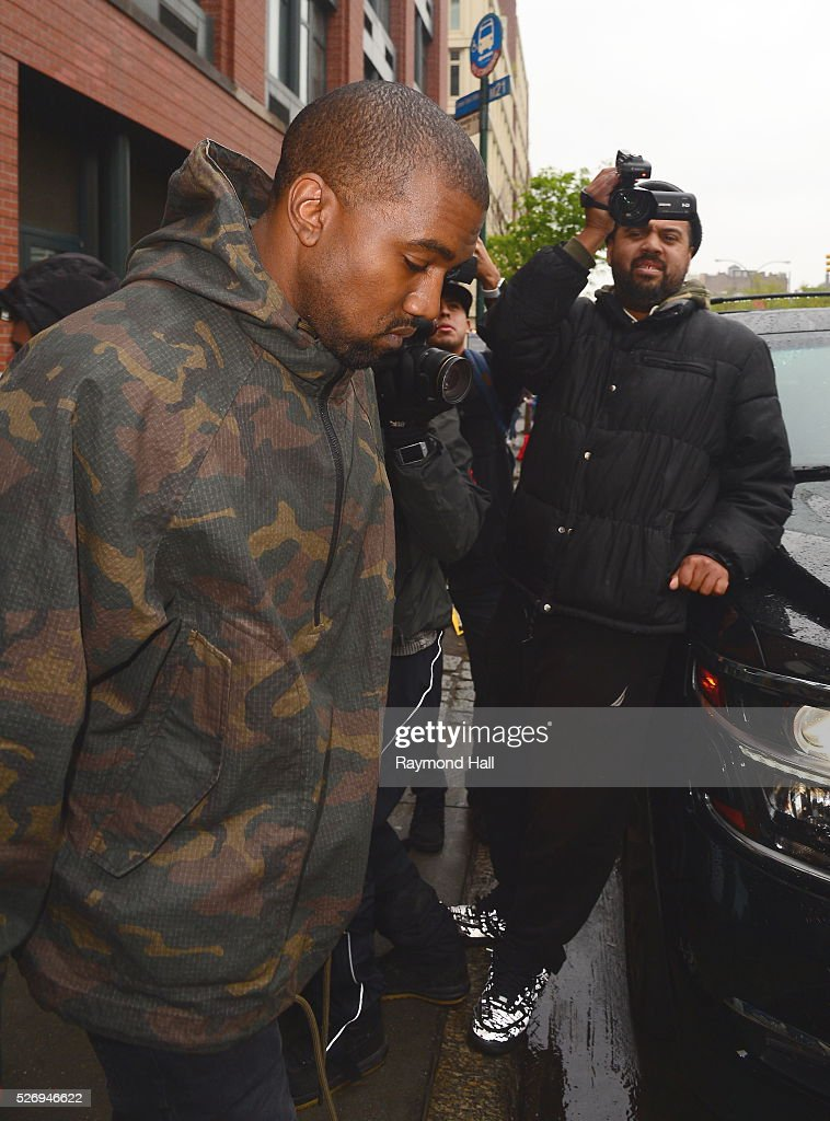 Rapper Kanye West is seen walking in Soho on May 1, 2016 in New York City.