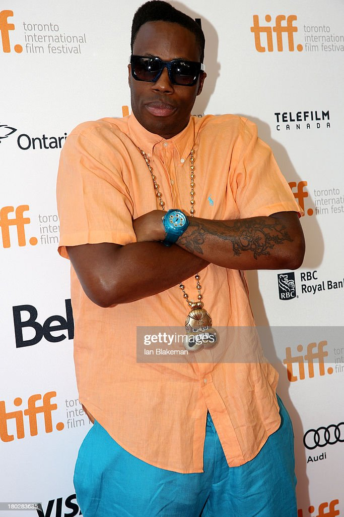 Rapper <a gi-track='captionPersonalityLinkClicked' href=/galleries/search?phrase=Kardinal+Offishall&family=editorial&specificpeople=709311 ng-click='$event.stopPropagation()'>Kardinal Offishall</a> arrives at the 'Don Jon' Premiere during the 2013 Toronto International Film Festival at Princess of Wales Theatre on September 10, 2013 in Toronto, Canada. (Photo by Ian Blakeman/WireImage).