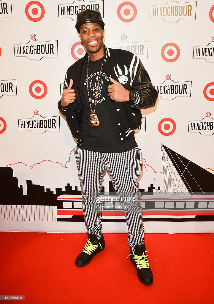 Rapper Kardinal Offishall attends the opening of Target At Shoppers World Danforth on March 27, 2013 in Toronto, Canada.