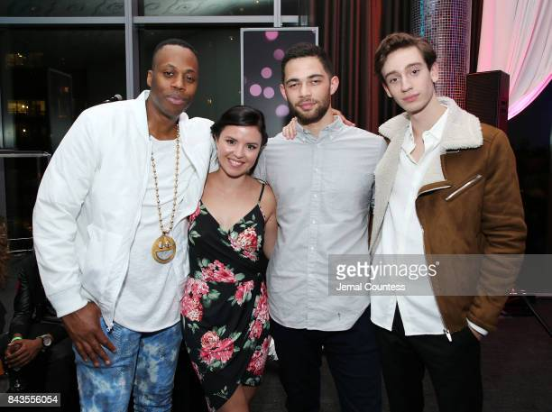 Rapper Kardinal Offishall TIFF Rising Stars Mary Galloway Vinnie Bennett and Theodore Pellerin pose for a photo during the 2017 Toronto International...