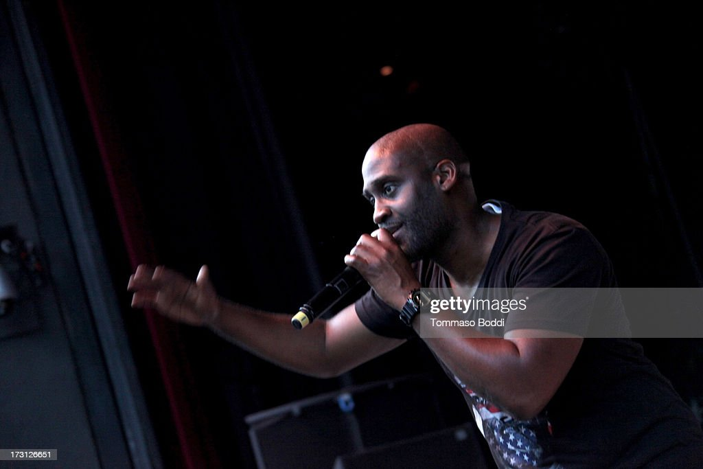 Rapper Kelvin Mercer of De La Soul performs at the Kings Of The Mic Tour held at The Greek Theatre on July 7, 2013 in Los Angeles, California.