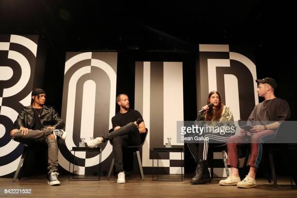 Rapper Kelvyn Colt Florian Reichelsdorfer of Adidas Originals Ottolinger designer Cosima Gadient and Highsnobiety Editorial Director Brock...