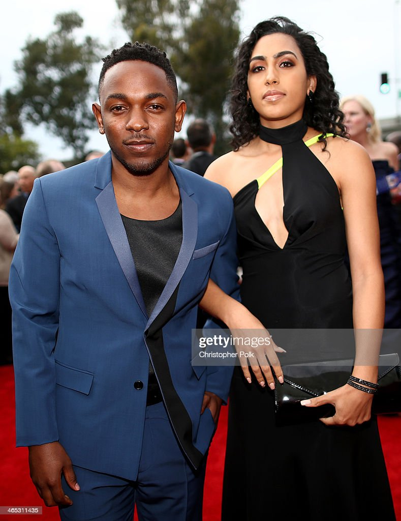 Rapper Kendrick Lamar (L) attends the 56th GRAMMY Awards at Staples Center on January 26, 2014 in Los Angeles, California.