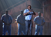 Rapper Kendrick Lamar onstage during The 58th GRAMMY Awards at Staples Center on February 15 2016 in Los Angeles California