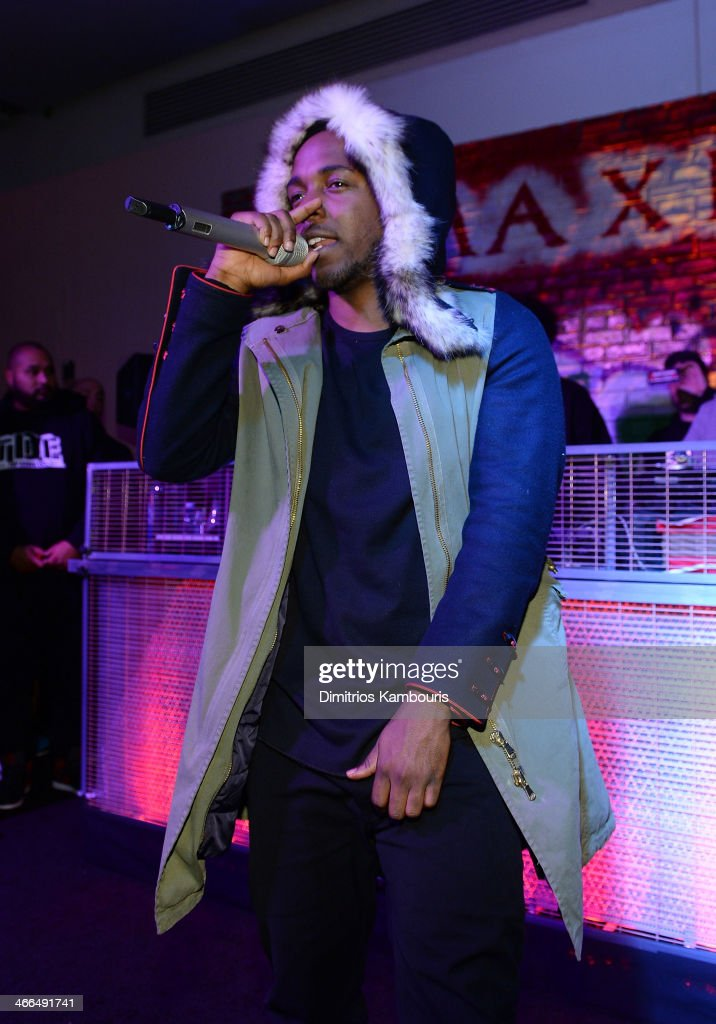Rapper <a gi-track='captionPersonalityLinkClicked' href=/galleries/search?phrase=Kendrick+Lamar&family=editorial&specificpeople=8012417 ng-click='$event.stopPropagation()'>Kendrick Lamar</a> performs at Talent Resources Sports presents MAXIM 'BIG GAME WEEKEND' sponsored by AQUAhydrat, Heavenly Resorts, Wonderful Pistachios, Touch by Alyssa Milano, and Philippe Chow on February 1, 2014 in New York City.