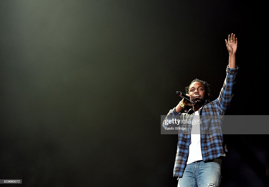 Rapper Kendrick Lamar performs onstage during day 2 of the 2016 Coachella Valley Music & Arts Festival Weekend 2 at the Empire Polo Club on April 23, 2016 in Indio, California.