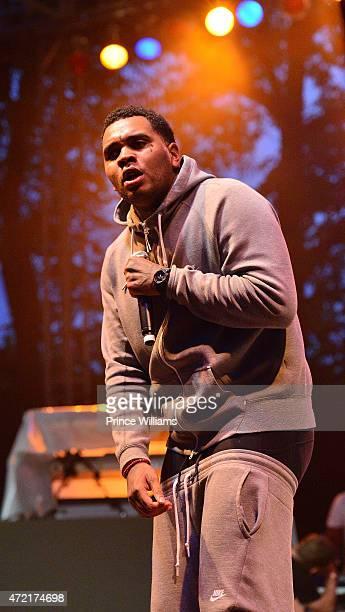 Rapper Kevin Gates performs at StreetzFest2k15 at Masquerade Music Park Historic Fourth Ward Park on April 18 2015 in Atlanta Georgia
