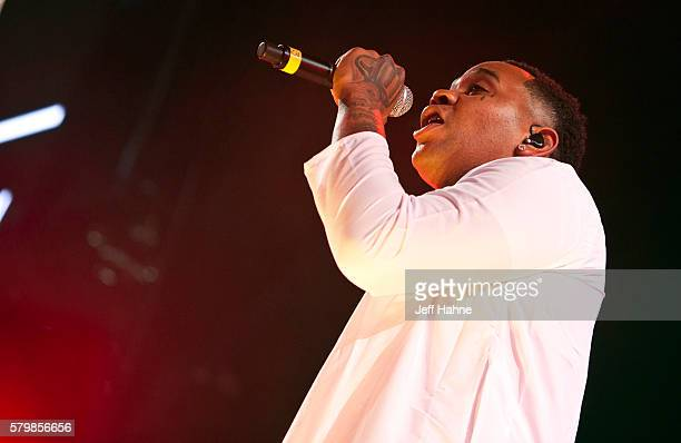 Rapper Kevin Gates performs during the Merry Jane presents the High Road Summer Tour at PNC Music Pavilion on July 24 2016 in Charlotte North Carolina