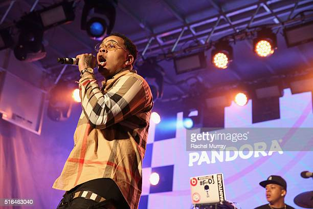 Rapper Kevin Gates performs onstage during the PANDORA Discovery Den SXSW on March 18 2016 in Austin Texas