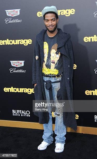 Rapper Kid Cudi arrives at Warner Bros Pictures Premiere of 'Entourage' at Regency Village Theatre on June 1 2015 in Westwood California