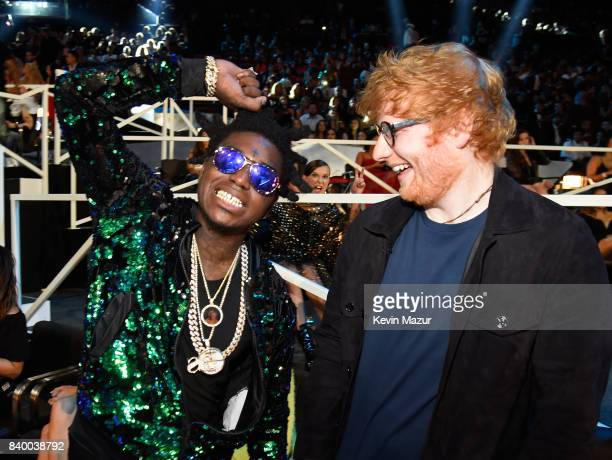 Rapper Kodak Black and singer Ed Sheeran during the 2017 MTV Video Music Awards at The Forum on August 27 2017 in Inglewood California