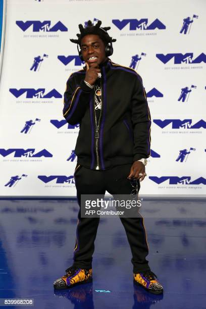 Rapper Kodak Black arrives at the MTV Video Music Awards 2017 In Inglewood California on August 27 2017 / AFP PHOTO / TOMMASO BODDI