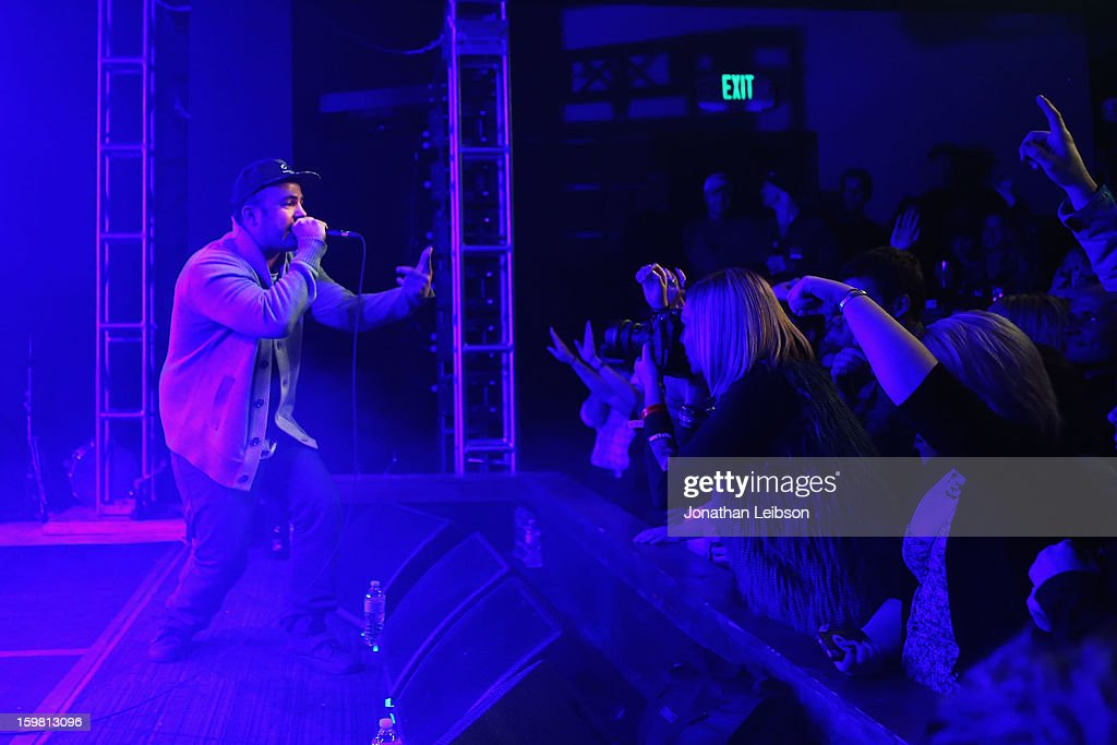 Rapper Kosha Dillz performs onstage during Matisyahu Performance at Star Bar on January 20, 2013 in Park City, Utah.