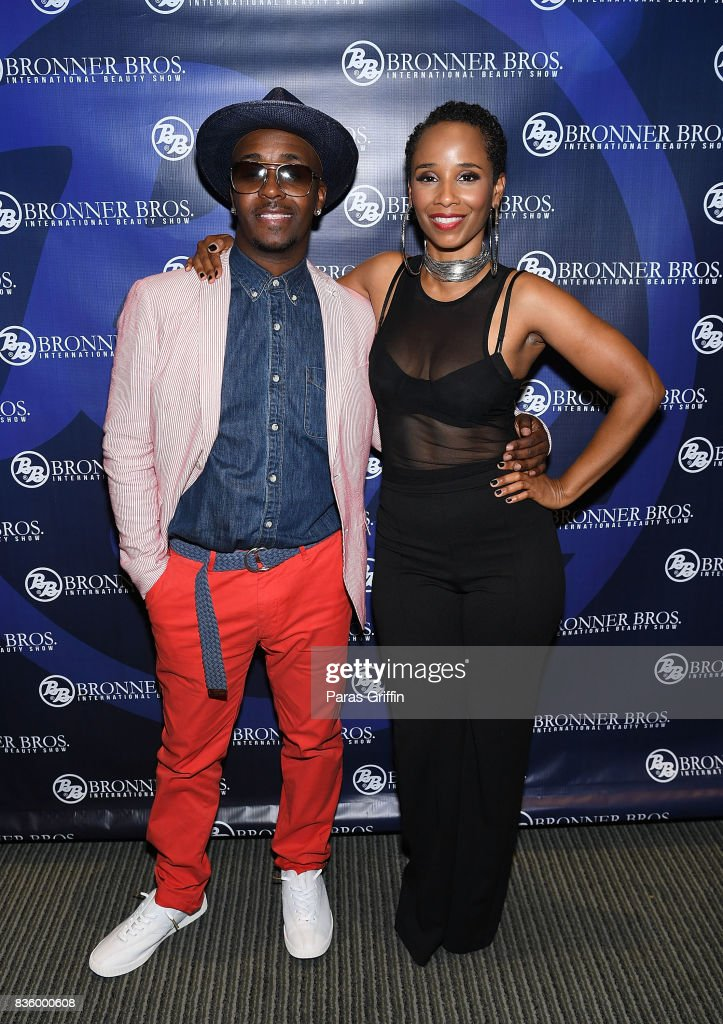 Rapper Kwame and singer Vivian Green at 70th Anniversary Bronner Brothers International Beauty Show Georgia World Congress Center on August 20, 2017 in Atlanta, Georgia.