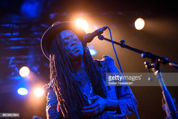 Rapper LaTanya Olatunji aka Akua Naru performs live on stage during a concert at Astra on October 18 2017 in Berlin Germany