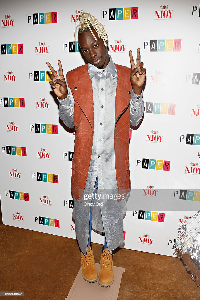 Rapper <a gi-track='captionPersonalityLinkClicked' href=/galleries/search?phrase=Le1f&family=editorial&specificpeople=9866542 ng-click='$event.stopPropagation()'>Le1f</a> attends Paper Magazine's 16th Annual Beautiful People Party at Top of The Standard Hotel on April 2, 2013 in New York City.