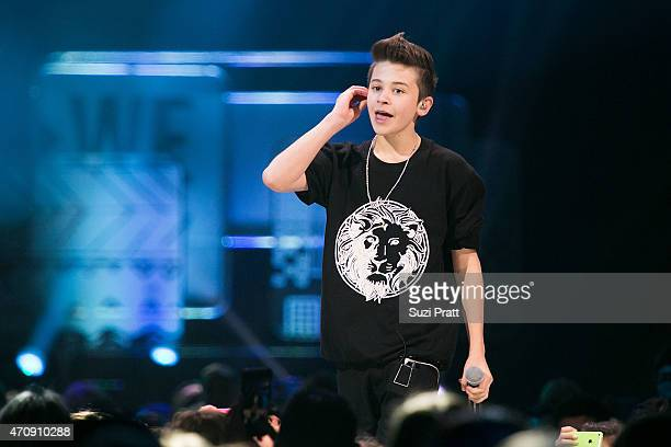Rapper Leondre Devries of Bars and Melody performs at Key Arena on April 23 2015 in Seattle Washington