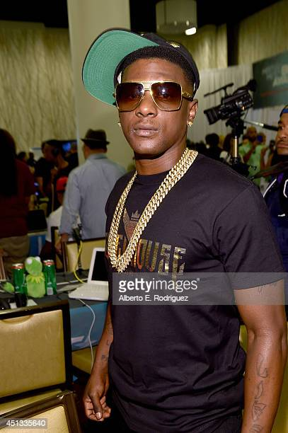Rapper Lil Boosie attends day 1 of the Radio Broadcast Center during the BET Awards '14 on June 27 2014 in Los Angeles California