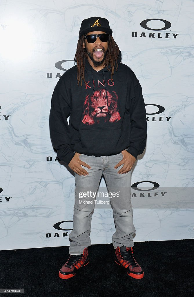 Rapper Lil John attends the Oakley's Disruptive By Design Launch Event at Red Studios on February 24, 2014 in Los Angeles, California.