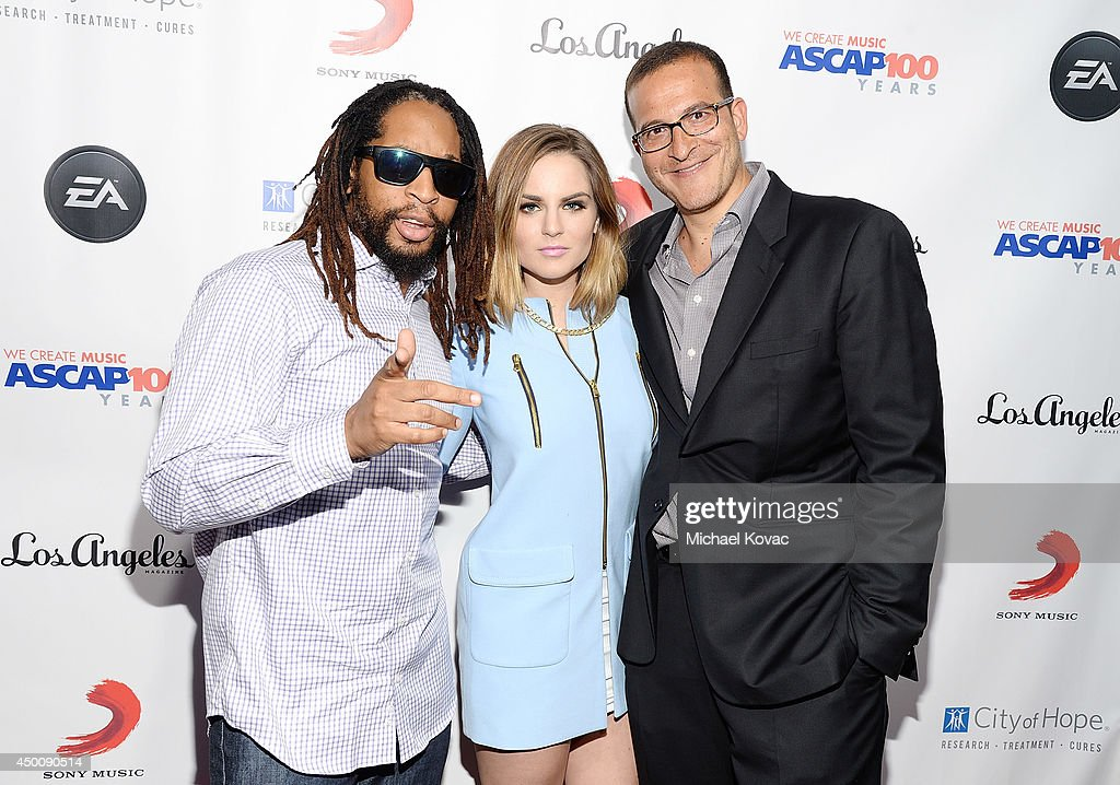 Rapper <a gi-track='captionPersonalityLinkClicked' href=/galleries/search?phrase=Lil+Jon+-+Rapper&family=editorial&specificpeople=202659 ng-click='$event.stopPropagation()'>Lil Jon</a>, musician <a gi-track='captionPersonalityLinkClicked' href=/galleries/search?phrase=JoJo+-+Singer&family=editorial&specificpeople=202981 ng-click='$event.stopPropagation()'>JoJo</a>, and music executive <a gi-track='captionPersonalityLinkClicked' href=/galleries/search?phrase=Doug+Davis&family=editorial&specificpeople=211598 ng-click='$event.stopPropagation()'>Doug Davis</a> arrive at City of Hope's 10th Anniversary 'Songs Of Hope' on June 4, 2014 in Brentwood, California.