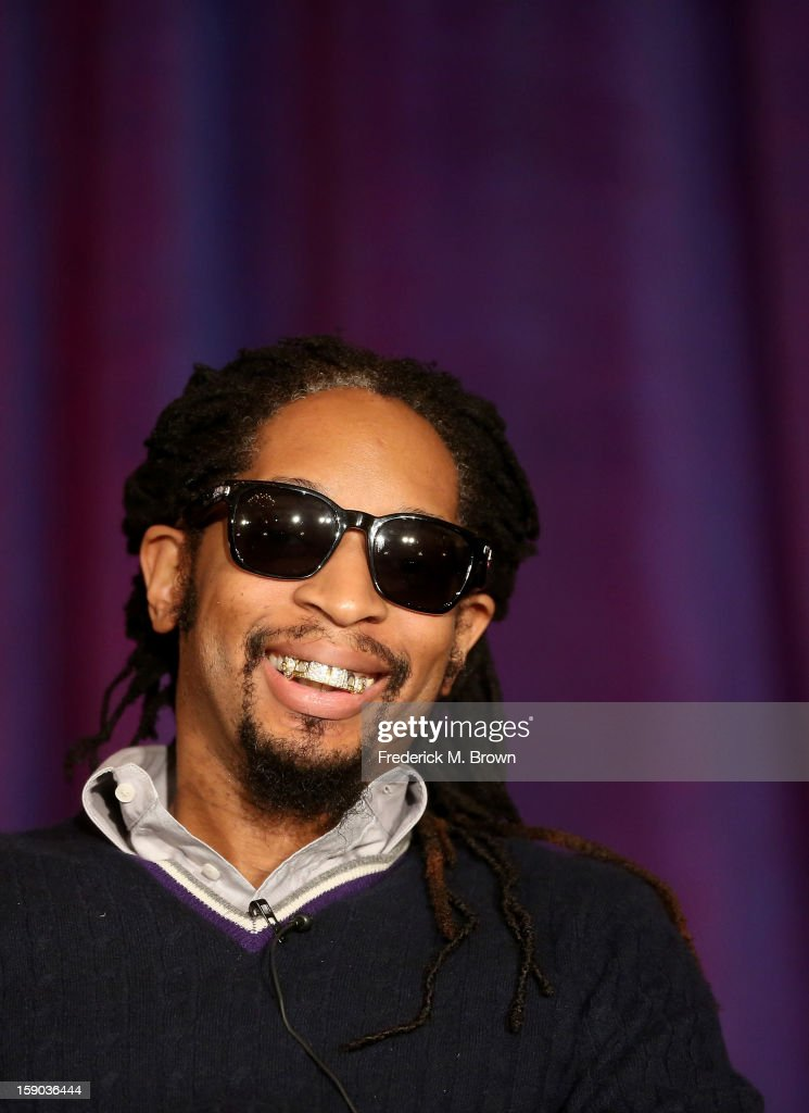 Rapper Lil Jon speaks onstage at the 'All Star Celebrity Apprentice' breakfast session during the NBCUniversal portion of the 2013 Winter TCA Tour- Day 3 at the Langham Hotel on January 6, 2013 in Pasadena, California.
