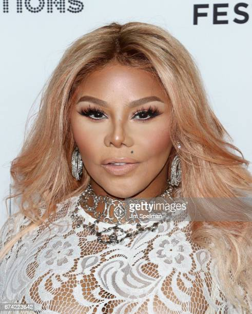 Rapper Lil' Kim attend the world premiere of 'Can't Stop Won't Stop A Bad Boy Story' cosupported by Deleon Tequila during the 2017 Tribeca Film...