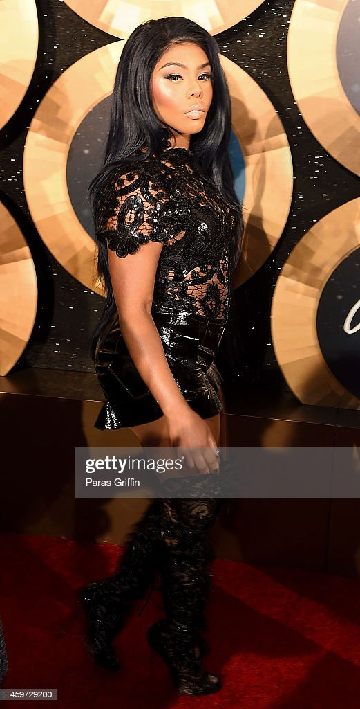 Rapper Lil Kim attends the 2014 Soul Train Music Awards at the Orleans Arena on November 7, 2014 in Las Vegas, Nevada.
