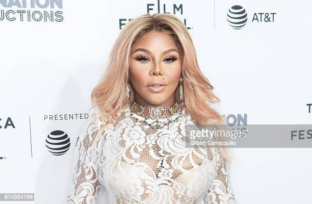 Rapper Lil' Kim attends the 'Can't Stop Won't Stop The Bad Boy Story' Premiere at Beacon Theatre on April 27 2017 in New York City