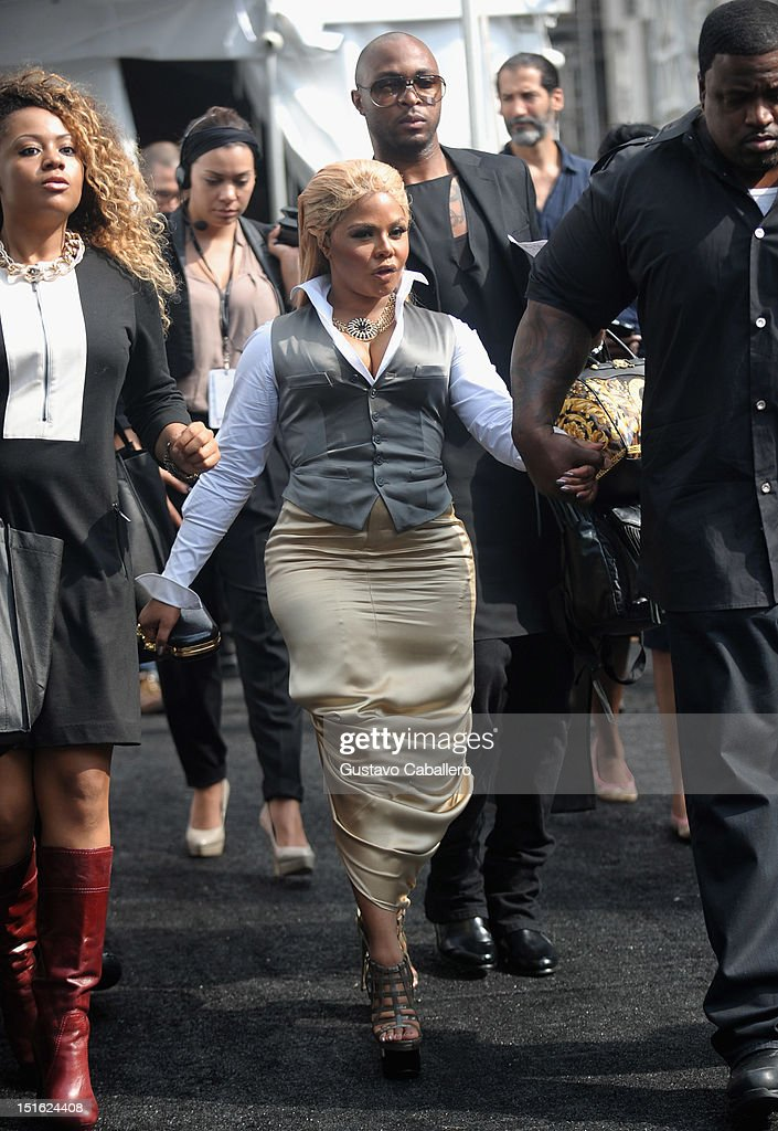 Rapper Lil' Kim is seen at Lincoln Center for the Performing Arts on September 8, 2012 in New York City.