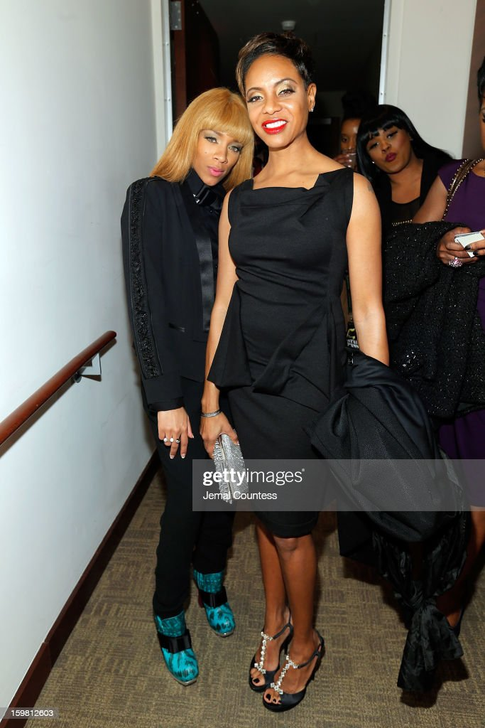 Rapper Lil Mama and rapper/actress MC Lyte attend The Hip-Hop Inaugural Ball II at Harman Center for the Arts on January 20, 2013 in Washington, DC.