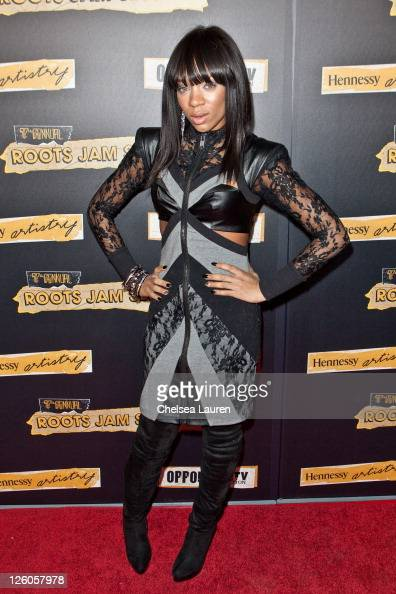 Rapper Lil Mama arrives at the 7th annual Roots Jam Session at the Music Box Theatre on February 12 2011 in Hollywood California