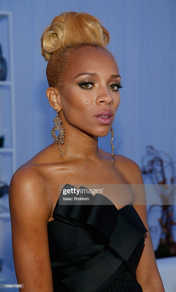 Rapper Lil Mama arrives at the Glade Suite at the Soul Train Awards 2012 at PH Live at Planet Hollywood Resort & Casino on November 8, 2012 in Las Vegas, Nevada.
