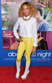 Rapper Lil' Mama arrives at The Pan African Film Arts Festival Premiere of Screen Gems' 'About Last Night' at ArcLight Cinemas Cinerama Dome on...