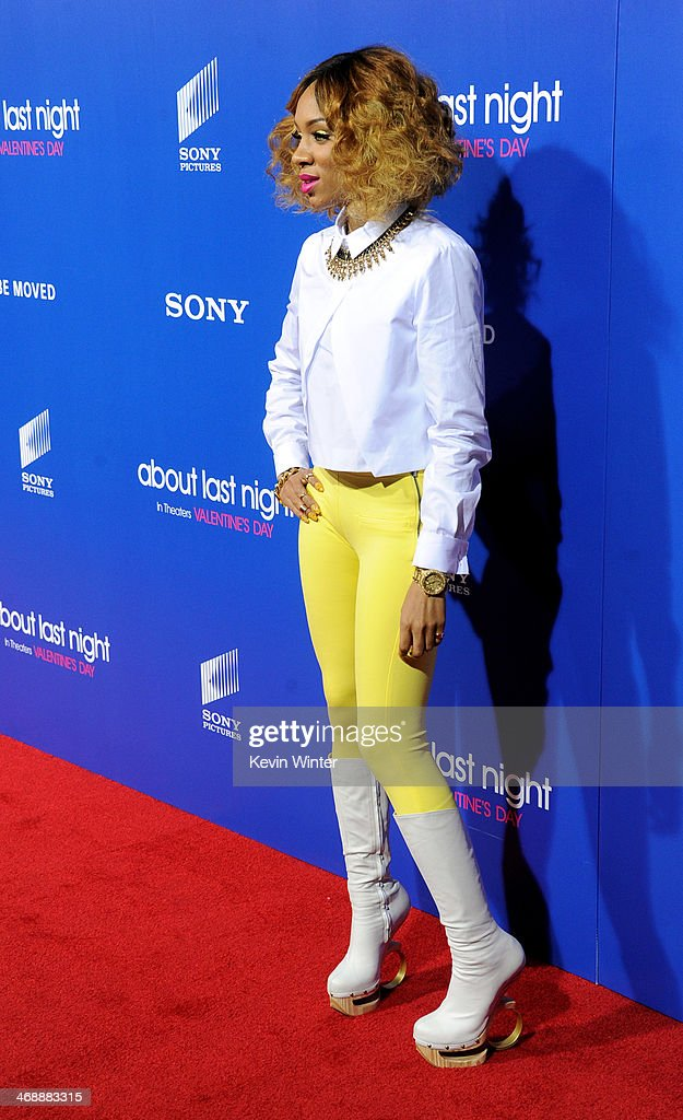 Rapper Lil' Mama arrives at the Pan African Film & Arts Festival Premiere of Screen Gems' 'About Last Night' at the Cinerama Dome Theatre on February 11, 2014 in Los Angeles, California.