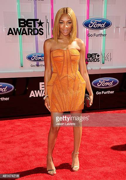 Rapper Lil' Mama attends the 2014 BET Awards at Nokia Plaza LA LIVE on June 29 2014 in Los Angeles California