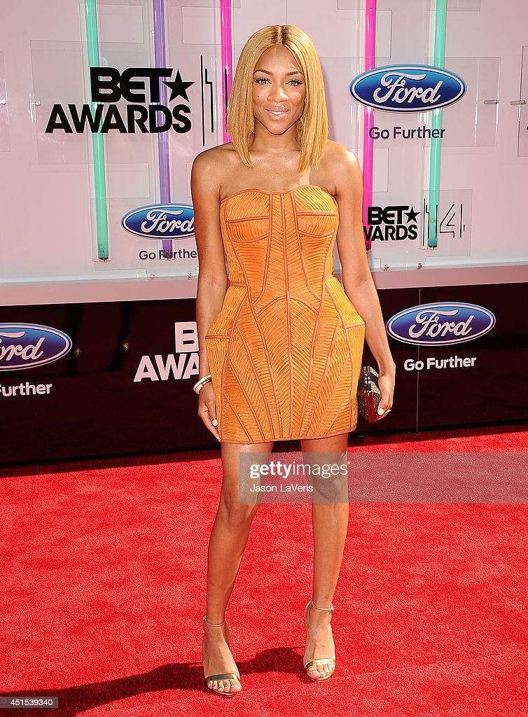 Rapper Lil' Mama attends the 2014 BET Awards at Nokia Plaza L.A. LIVE on June 29, 2014 in Los Angeles, California.