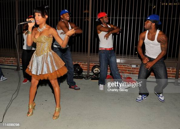 **EXCLUSIVE** Rapper Lil Mama performs during Keke Palmer's sweet 16 birthday party sponsored by TMobile Sidekick LX held at LoftSEVEN on August 22...