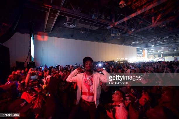 Rapper Lil Uzi Vert performs at ComplexCon 2017 on November 5 2017 in Long Beach California