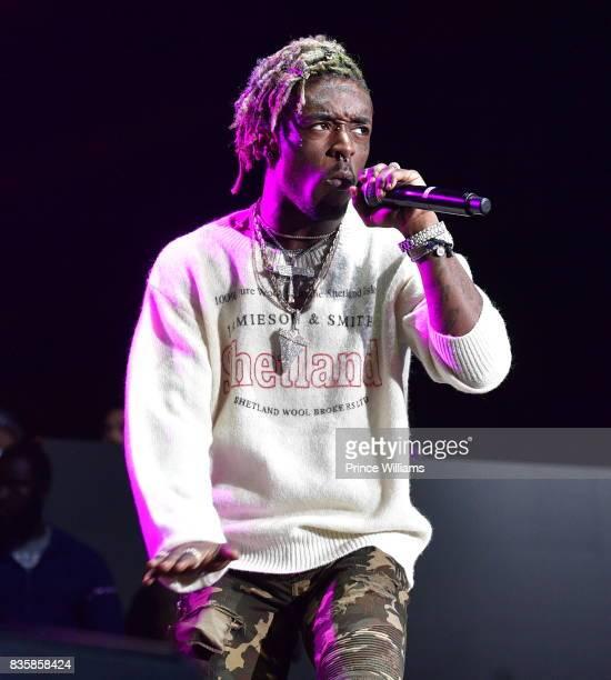 Rapper Lil Uzi Vert performs at Streetz Fest 2K17 at Lakewood Amphitheatre on August 19 2017 in Atlanta Georgia