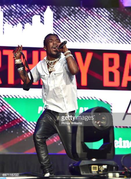 Rapper Lil Uzi Vert Performs at the Birthday Bash ATL The pop Up Edition Concert at Philips Arena on June 17 2017 in Atlanta Georgia