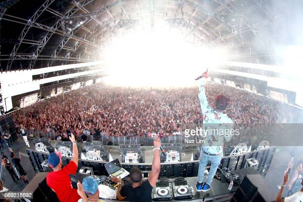Rapper Lil Uzi Vert performs in the Sahara Tent during day 3 of the Coachella Valley Music And Arts Festival at the Empire Polo Club on April 16 2017...