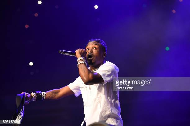 Rapper Lil Uzi Vert performs onstage at Hot 1079 Birthday Bash ATL Pop Up Edition at Philips Arena on June 17 2017 in Atlanta Georgia