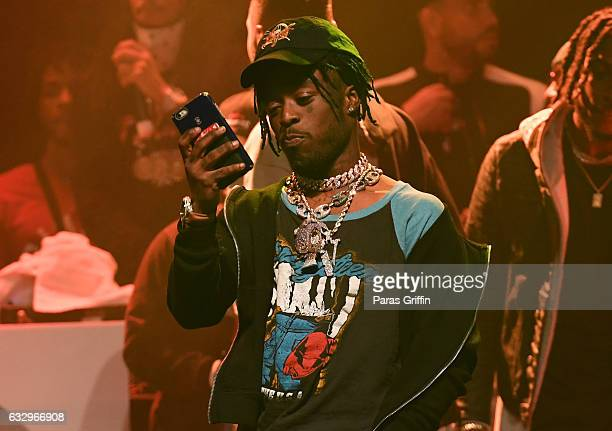 Rapper Lil Uzi Vert performs onstage at Puma Hot 1079 presents Migos 'Culture' Album Release Show at Center Stage on January 28 2017 in Atlanta...