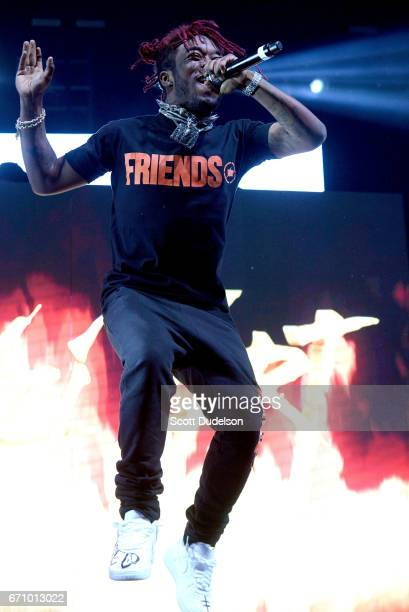 Rapper Lil Uzi Vert performs onstage during the Smokers Club 420 event at The Observatory on April 20 2017 in Santa Ana California