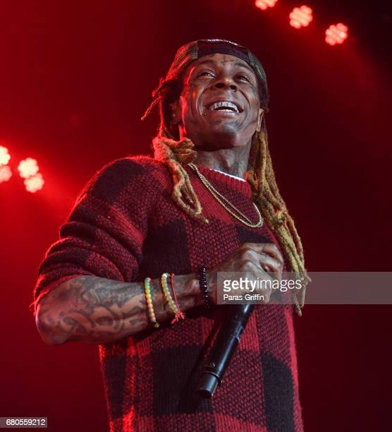 Rapper Lil Wayne performs in concert during 'Kloser 2 U' tour at CocaCola Roxy on May 8 2017 in Atlanta Georgia