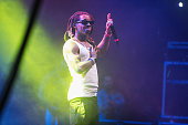 Rapper Lil Wayne performs on stage during the Dope Music Festival at Xfinity Arena on December 18 2015 in Everett Washington