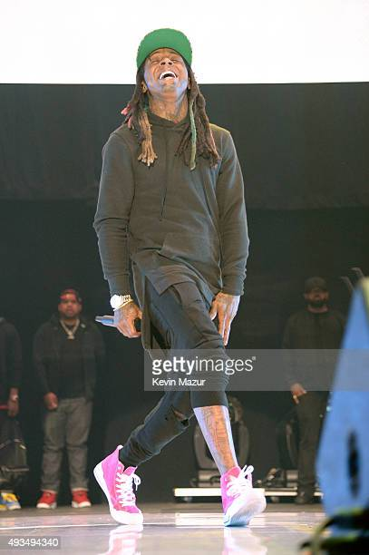 Rapper Lil Wayne performs onstage during TIDAL X 1020 Amplified by HTC at Barclays Center of Brooklyn on October 20 2015 in New York City